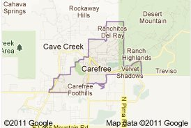 Carefree Arizona Map Carefree AZ Real Estate | Real Estate Carefree